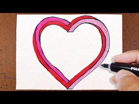 Como Desenhar Coracao 3d Infinito How To Draw Youtube