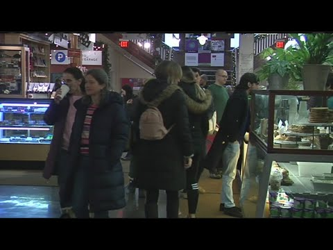 Last minute shoppers head to Thornes Market for final holiday gifts