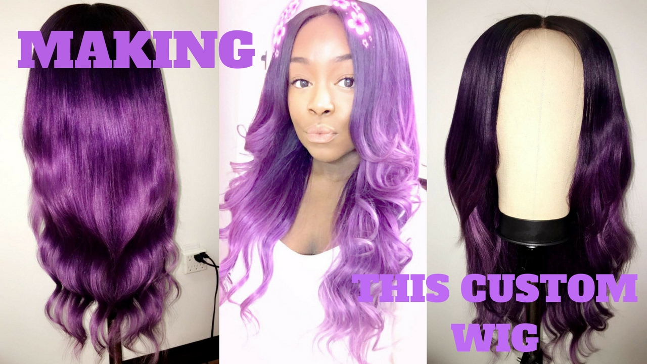 How To Make A Custom Wig Closure Adore Hair Color Purple Ombre