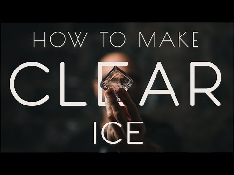 How to make the perfect clear ice cube - NO WASTE!