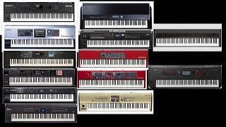 Piano Comparisons Forte,Fantom G,Juno DS,FA 08,RD 300NX,RD 800,V Piano,RD 2000,Montage,Piano 3,Stage