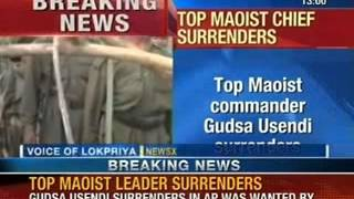 Top Maoist Chief surrenders: Gudsa Usendi wanted in three states, surrenders in Andhra Pradesh