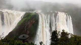 Jog falls in Karnataka, India, during Monsoon time.