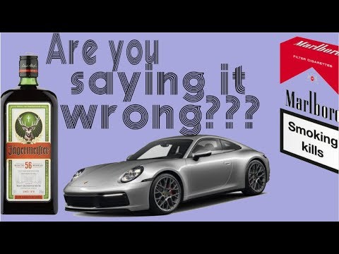 17 Most Mispronounced Brand Names: Cars, Cigarettes, Alcohol & Tech. USA Accent. Syllable Stress.