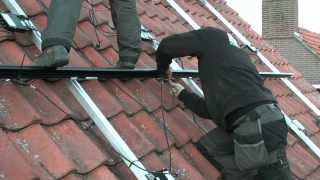 LG mono all black zonnepanelen montage met een Solaredge omvormer en Tritec inleg systeem