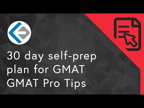 30 Day Self-prep Plan For GMAT   GMAT Pro Tips