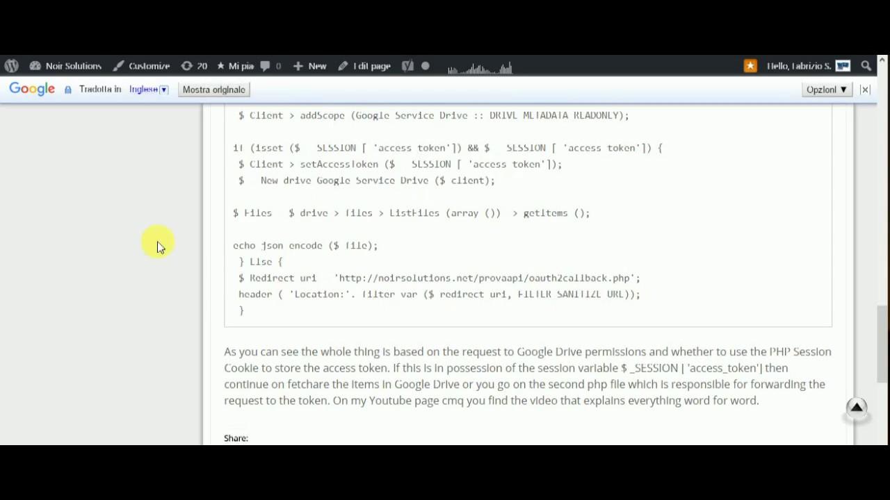 Google Api Key PHP Lesson 6 Example