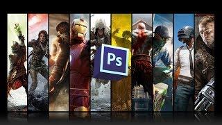 Создание игрового постера в фотошопе