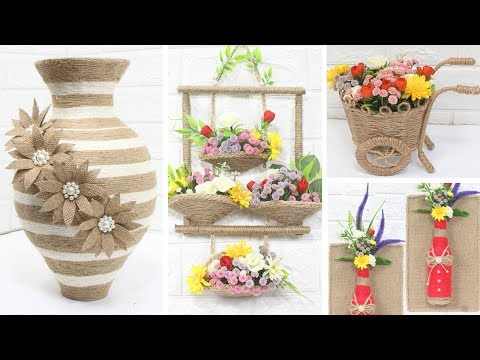 5 Jute craft ideas | Home decorating ideas handmade | #3