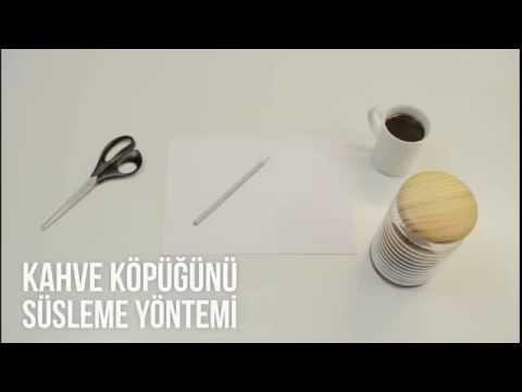 Kahve Köpüğünü Süsleme Yöntemi 63