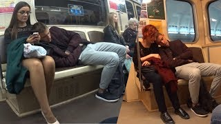 ПРАНК: СПИТ На Людях В МЕТРО | Sleeping on Strangers in the Subway