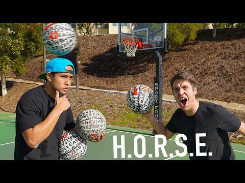 Challenging Pro Basketball Freestyler To TRICK SHOT HORSE!