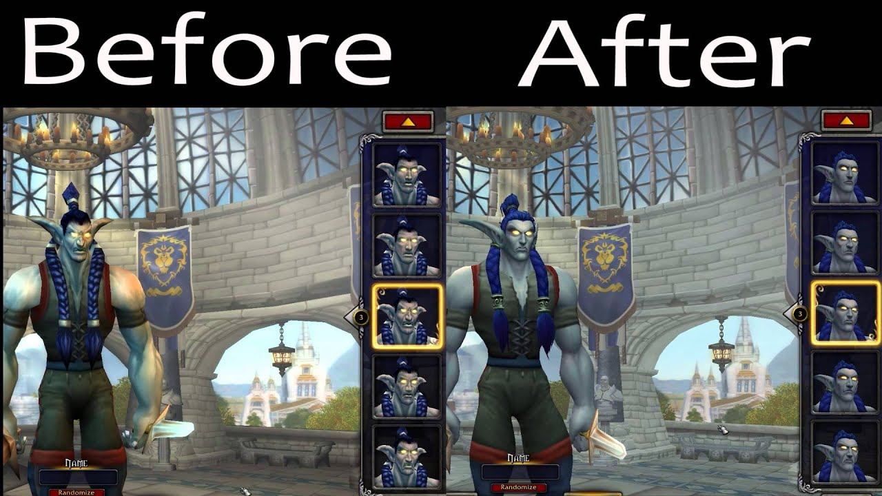 Faces Of The New Male Night Elf Model Before And After Wod Beta