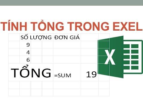 tính tổng trong excel   hàm nhân trong excel  hàm trừ trong excel Tự học exel Bài 31