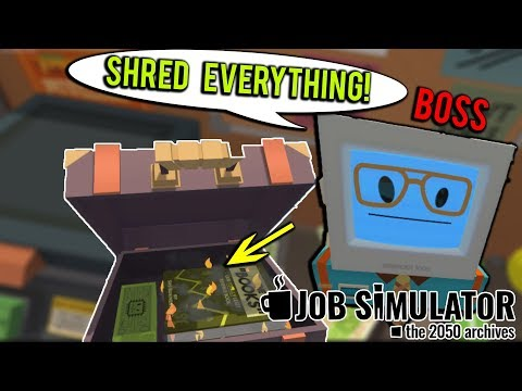 BOSS GETS CAUGHT BY IRS! - Job Simulator VR