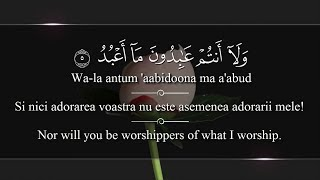 Holy Quran Ch #109 [Surat Al-Kafirun] With Romanian&English translation! Arabic transliteration