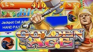 HIGH LIMIT SLOT BONUS ★ GOLDEN AGE MAX BET ➜ JACKPOT HANDPAY!