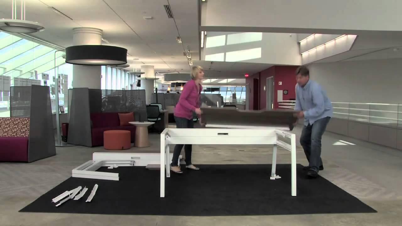 Turnstone Assembly Video   Bivi Single Desk