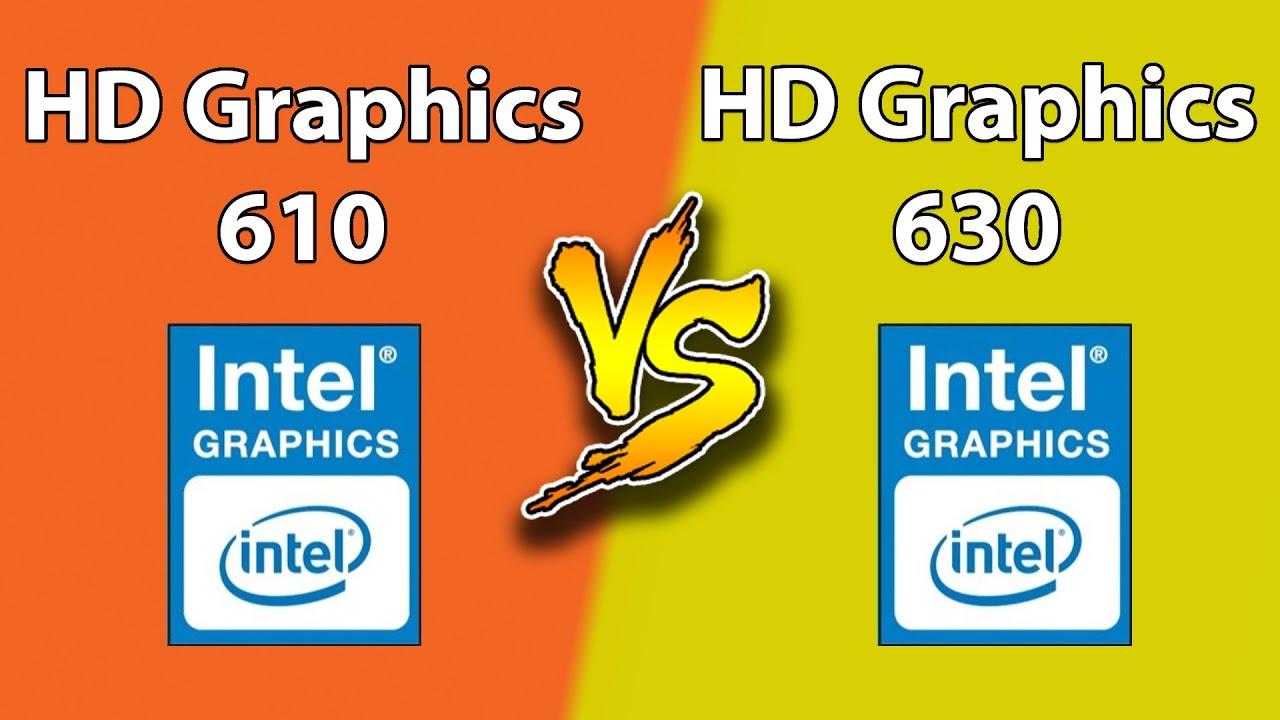 Intel HD 630 vs Intel HD 610 | New Games Benchmark - YouTube