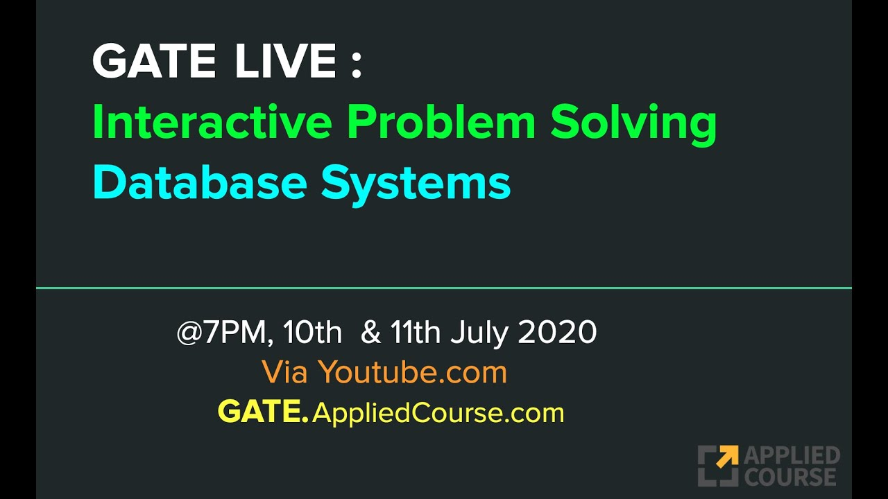 GATE LIVE Sessions on 10th and 11th July 2020
