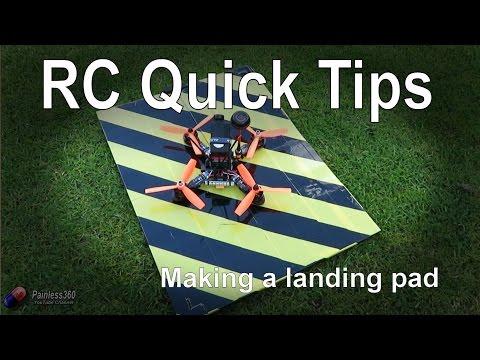 RC Quick Tips: Making a simple, cheap multirotor landing pad
