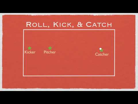 Physed Games - Roll, Kick & Catch