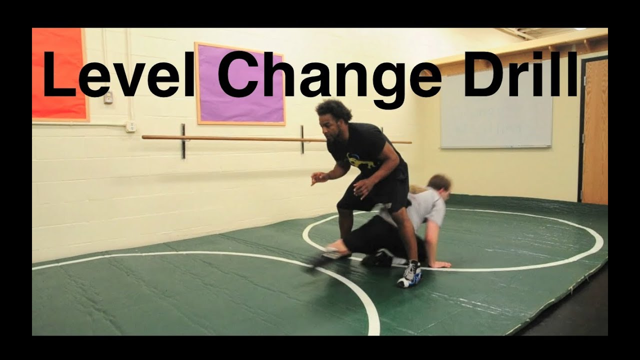 Fun Shooting Drill Shooting Tips: Level Change Shooting Drill, Good Wrestling Warm Up Drill