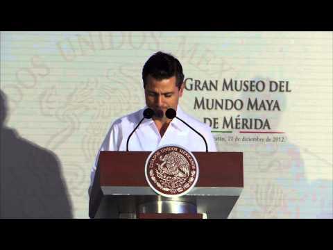 Presidente Peña Nieto inauguró el Gran Museo del Mundo Maya