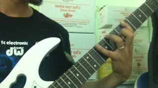 Học solo guitar - Bài tập giúp DANG NGÓN bàn tay trái -  Finger Stretching [HocDanGhiTa.Net]