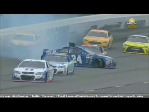 NASCAR Sprint Cup Series 2016. Pennsylvania 400. Chase Elliott & Joey Logano Crash