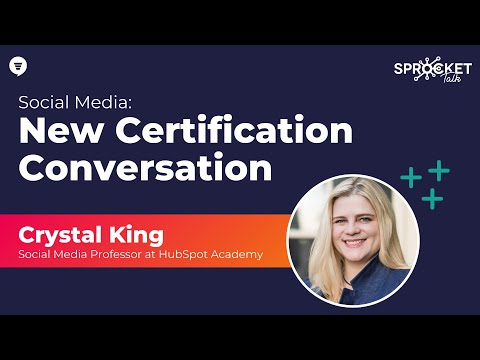 HubSpot Academy Social Media Certification with Crystal King