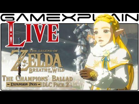 The Champions' Ballad DLC LIVESTREAM (Zelda: Breath of the Wild Gameplay)