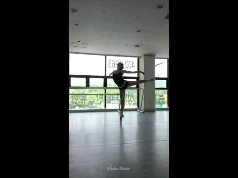 왕지원(WangJiWon) Ballet Practicing