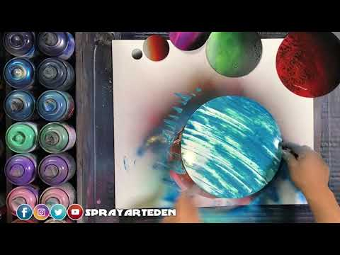Spray Paint Art Tutorial (Space Themed Painting) thumbnail