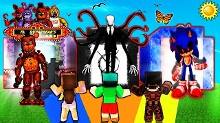 Minecraft - DO NOT Choose the Wrong Dimension - FNAF, SLENDERMAN & SONIC.EXE