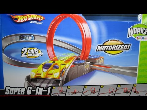 Hot Wheels Super 6 In 1 Track Set With A Booster Loop And Curves