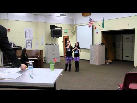 Marissa's Solo & Ensemble contest with her friend Allyson @ Tahoma Middle School