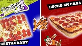 LITTLE CAESAR'S vs HECHO EN CASA | EL GUZII | #CocinaLab
