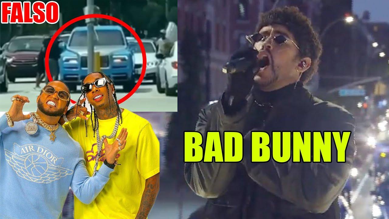 Bad Bunny rompe New York, El alfa se queda por gasolina en Roll Royce ¡ES FALSO!