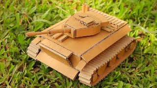 How To Make Amazing Tank from Cardboard