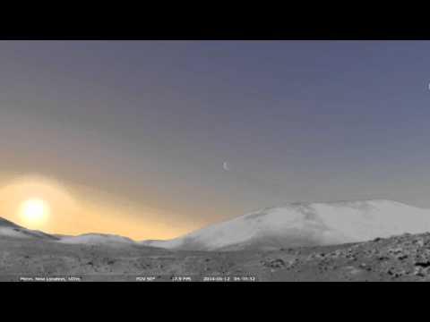 Sun eclipse on the Moon