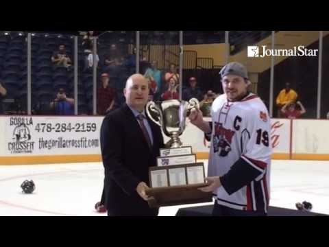 VIDEO: Ex-Rivermen Matt Summers, now Macon captain, skates the President's Cup after ousting Peoria