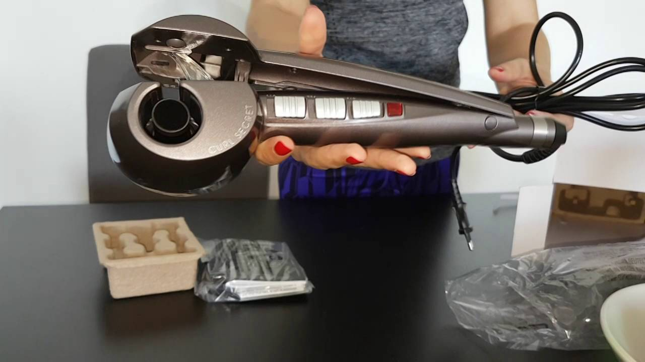 Babyliss Curl Secret Ionic C1200e Unboxing Test Youtube