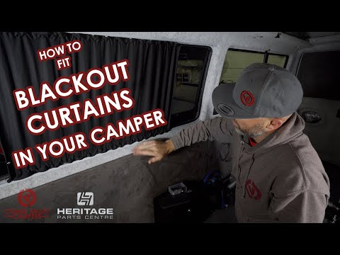 HOW TO FIT BLACKOUT OUT CURTAINS TO YOUR CAMPER. (VW T4 Long Wheel Base Curtain kit)