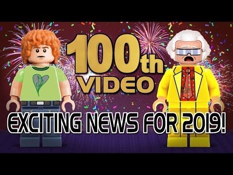 100th Video! Exciting LEGO News for Cut the Kragle! Happy New Year 2019!