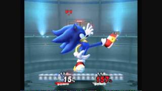 Brawl Hacks - Giant Sonic v.s. Shadow
