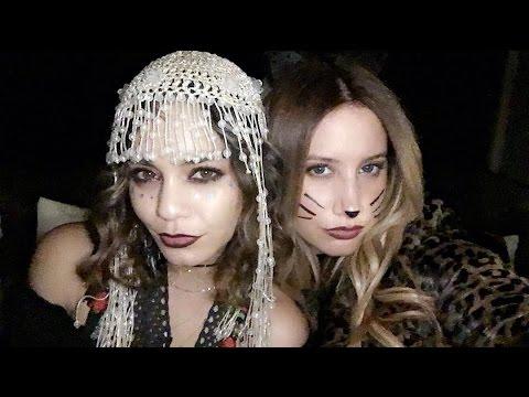 ashley tisdale and vanessa hudgens birthday halloween style - Ashley Tisdale Halloween