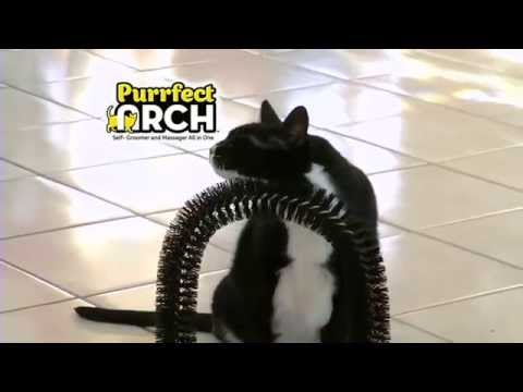 Purrfect Arch - Cats Self-Groomer and Massager All in One !