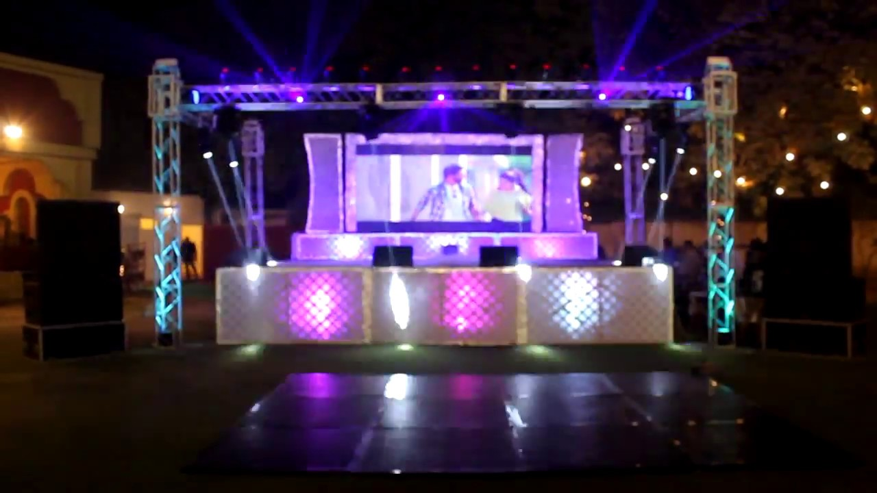 Best Dj Stage Show With Led Video Screen Well For Marriage