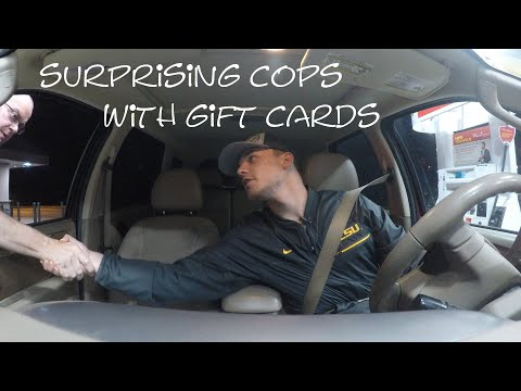 Surprising Cops With Gift Cards!!!